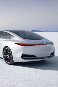 640x1136 Infiniti Q Inspiration Concept Car Rear Side 2018