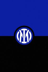 750x1334 Inter Milan Logo Minimal 8k