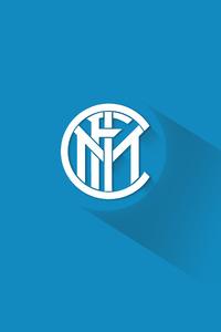 2160x3840 Inter Milan Material Design Logo 5k