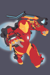 Invincible Iron Man Mk 51 Vector