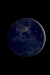 720x1280 IOS 11 Earth Night 4k