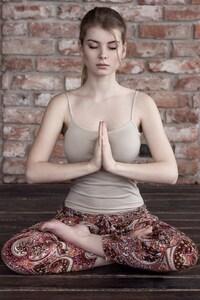 Irina Popova Doing Yoga