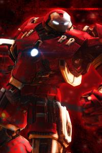 Iron Hulkbuster Artwork 4k