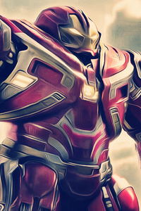 1125x2436 Iron Hulkbuster In Avengers Infinity War 2018 Artwork
