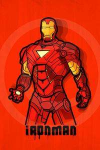 1080x1920 Iron Man 2020 Minimal