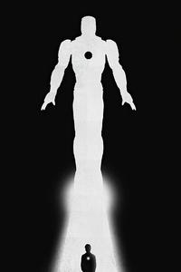 640x960 Iron Man 2020 Minimalism