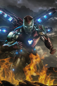 1242x2688 Iron Man 2020 Suit