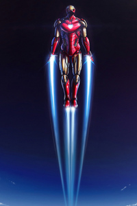 750x1334 Iron Man 4k New Flying