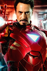 320x480 Iron Man 4k Robert