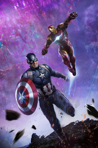 240x320 Iron Man And Captain America In Avengers End Game