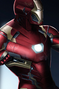 540x960 Iron Man And Captain America New Art