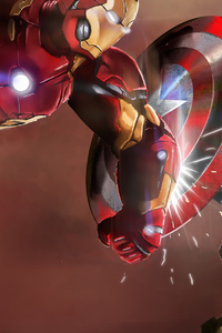 640x960 Iron Man And Captain America New