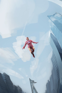 1080x2280 Iron Man And Captain Art