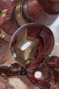 Iron Man And Iron Hulkbuster 4k