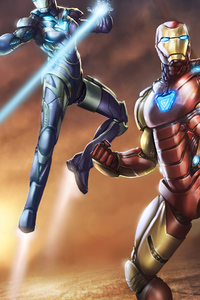2160x3840 Iron Man And Pepper Rescue Suit