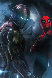 480x854 Iron Man And Spider 4k