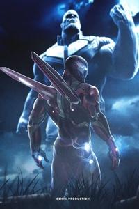 Iron Man And Thanos Artwork