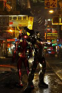 240x320 Iron Man And War Machine 5k