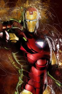 1125x2436 Iron Man Art 4k