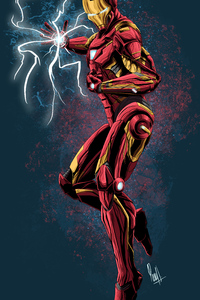 640x960 Iron Man Art 4k New