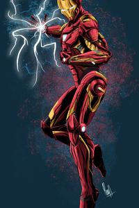 320x568 Iron Man Art 4k New