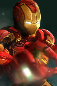 240x320 Iron Man Art New