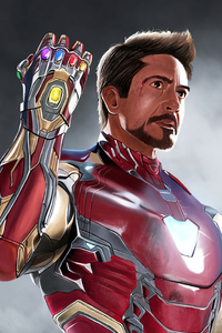 480x854 Iron Man Art4k 2020