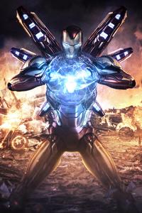 1440x2960 Iron Man Avengers Endgame 4k