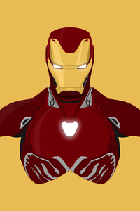 Iron Man Avengers Infinity War 2018 Minimalism 8k