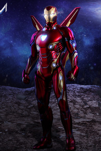 1080x2280 Iron Man Avengers Infinity War Suit Artwork