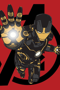 IRON MAN Black X Gold