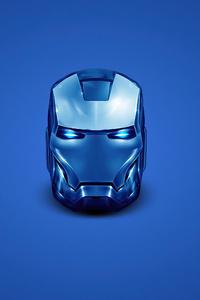 360x640 Iron Man Blue Helmet Minimal 4k