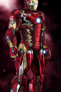 480x800 Iron Man Captain America 4k Art