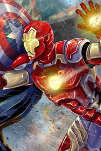 Iron Man Captain America Art