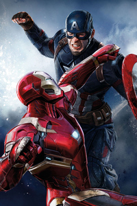 1280x2120 Iron Man Captain America Hd