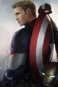 1125x2436 Iron Man Captain America Winter Solider