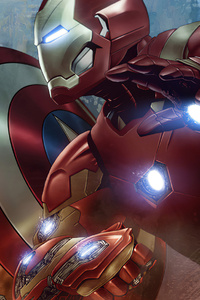 640x960 Iron Man Captainamerica
