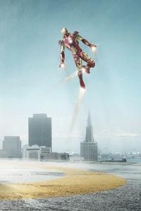 Iron Man Car 4k Artwork