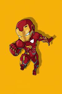 640x1136 Iron Man Chibbi Minimal 4k