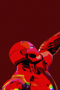 Iron Man Clean Minimal Art 4k