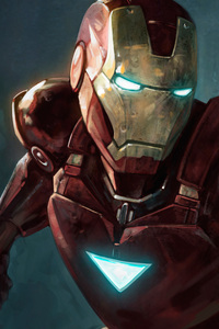 Iron Man Closeup Art