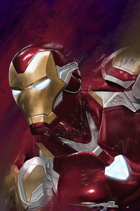 2160x3840 Iron Man Closeup
