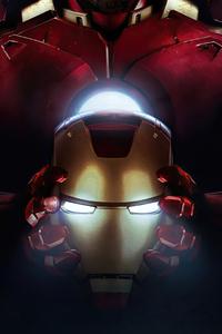 1242x2688 Iron Man Closeup Suit