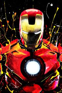 Iron Man Color Paint Art