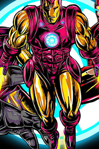 1440x2560 Iron Man Comic Artwork 4k