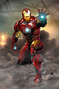 240x320 Iron Man Comicart 4k
