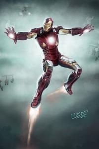 360x640 Iron Man Concept Art 5k