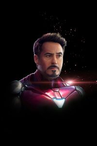 480x800 Iron Man Dark Minimal 4k