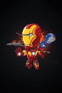 Iron Man Dark Minimal Art 4k