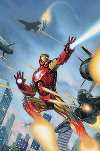 320x568 Iron Man Destroying Missile